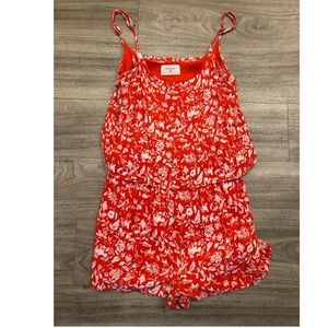 Red Floral Everly Romper